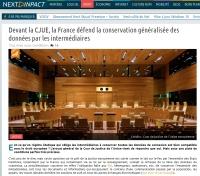 [NextINpact] Devant la CJUE, la France défend la conservation généralisée des données par les intermédiaires
