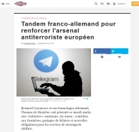 [Liberation] Tandem franco-allemand pour renforcer l'arsenal antiterroriste européen