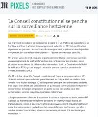 [LeMonde] Le Conseil constitutionnel se penche sur la surveillance hertzienne