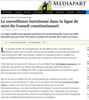 [Mediapart] La surveillance hertzienne dans la ligne de mire du Conseil constitutionnel