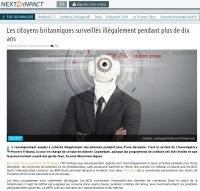 [NextINpact] Les citoyens britanniques surveillés illégalement pendant plus de dix ans
