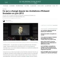 [HuffingtonPost] Ce qui a changé depuis les révélations d'Edward Snowden en juin 2013
