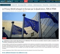 [NextINpact] Le Privacy Shield attaqué en Europe par la Quadrature, FDN et FFDN