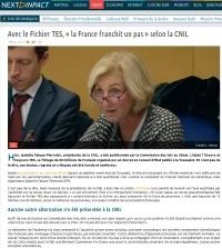 [NextINpact] Avec le Fichier TES, « la France franchit un pas » selon la CNIL