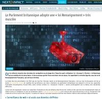 [NextINpact] Le Parlement britannique adopte une « loi Renseignement » très musclée