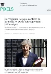 [LeMonde] Surveillance : ce que contient la nouvelle loi sur le renseignement britannique