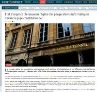 État d'urgence : le nouveau régime des perquisitions informatiques devant le juge constitutionnel
