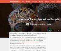 [Numerama] Le réseau Tor est bloqué en Turquie