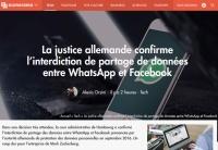 [Numerama] La justice allemande confirme l'interdiction de partage de données entre WhatsApp et Facebook