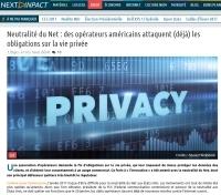 Neutralité du Net : des opérateurs américains attaquent (déjà) les obligations sur la vie privée