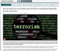 Vers six années de prescription pour le délit de consultation habituelle de sites terroristes