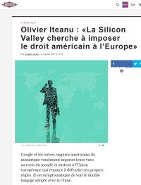 Olivier Iteanu : «La Silicon Valley cherche à imposer le droit américain à l'Europe»