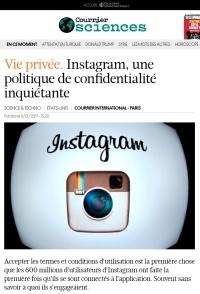 Vie privée. Instagram, une politique de confidentialité inquiétante