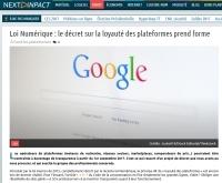 [NextINpact] Loi Numérique : le décret sur la loyauté des plateformes prend forme