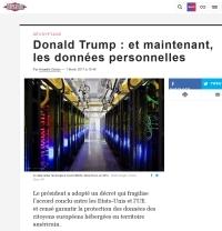[Liberation] Donald Trump : et maintenant, les données personnelles