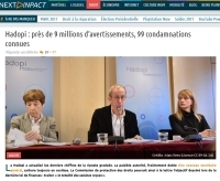 [NextINpact] Hadopi : près de 9 millions d'avertissements, 99 condamnations connues