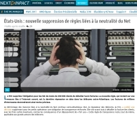 [NextINpact] États-Unis : nouvelle suppression de règles liées à la neutralité du Net