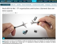 [NextINpact] Neutralité du Net : 171 organisations américaines s'alarment dans une lettre ouverte