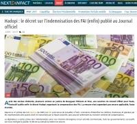 [NextINpact] Hadopi : le décret sur l'indemnisation des FAI (enfin) publié au Journal officiel