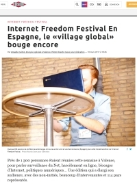 [Liberation] Internet Freedom Festival En Espagne, le «village global» bouge encore