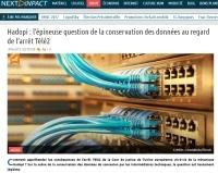 [NextINpact] Hadopi : l'épineuse question de la conservation des données au regard de l'arrêt Télé2