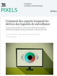 [LeMonde] Comment des experts traquent les dérives des logiciels de surveillance