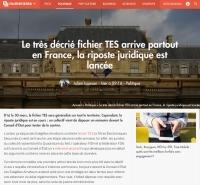 [Numerama] Le très décrié fichier TES arrive partout en France, la riposte juridique est lancée