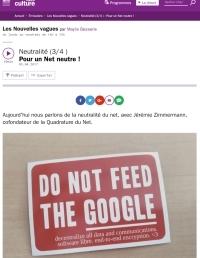 Neutralité (3/4 ) Pour un Net neutre !