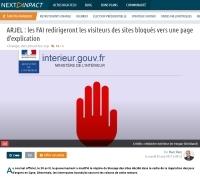 [NextINpact] ARJEL : les FAI redirigeront les visiteurs des sites bloqués vers une page d'explication