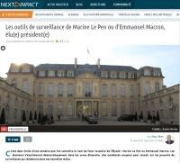 [NextINpact] Les outils de surveillance de Marine Le Pen ou d'Emmanuel Macron, élu(e) président(e)