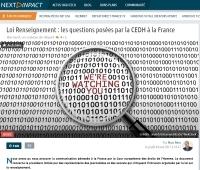 [NextINpact] Loi Renseignement : les questions posées par la CEDH à la France