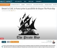 [NextINpact] Devant la CJUE, la France prône la possibilité de bloquer The Pirate Bay