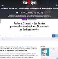 [Rue89Lyon] Adrienne Charmet : « Les données personnelles ne doivent plus être au cœur du business model »