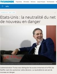 [TV5Monde] Etats-Unis : la neutralité du net de nouveau en danger