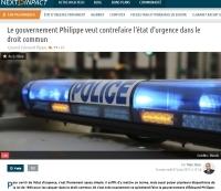 [NextINpact] Le gouvernement Philippe veut contrefaire l'état d'urgence dans le droit commun