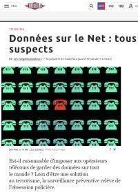 [Libération] Données sur le Net : tous suspects