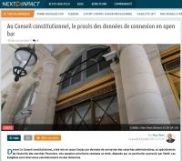 [NextINpact] Au Conseil constitutionnel, le procès des données de connexion en open bar