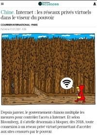 [CourrierInternational] Chine. Internet : les réseaux privés virtuels dans le viseur du pouvoir