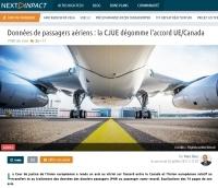 [NextINpact] Données de passagers aériens : la CJUE dégomme l'accord UE/Canada
