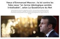 [franceinfo:] Vœux d'Emmanuel Macron : la loi contre les fake news