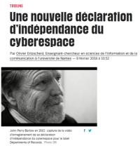 [Liberation] Une nouvelle déclaration d'indépendance du cyberespace