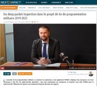 [NextInpact] Du deep packet inspection dans le projet de loi de programmation militaire 2019-2025