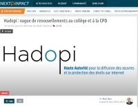 [NextINpact] Hadopi : vague de renouvellements au collège et à la CPD