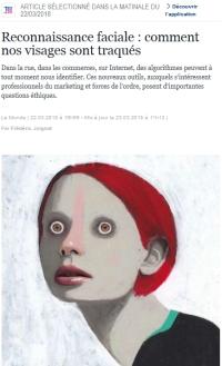 [LeMonde] Reconnaissance faciale: comment nos visages sont traqués