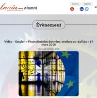 [Inria-Alumni-Sif] Vidéo – Session « Protection des données : mythes ou réalités »