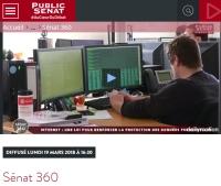[PublicSenat] Sénat 360 : Débat protection des données personnelles