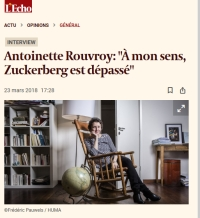 [Echo.be] Antoinette Rouvroy: