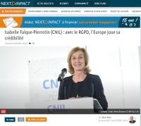 [NextINpact] Isabelle Falque-Pierrotin (CNIL) : avec le RGPD, l'Europe joue sa crédibilité