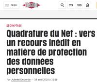 [Liberation] Quadrature du Net : vers un recours inédit en matière de protection des données personnelles