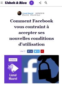 [Usbek&Rica] Comment Facebook vous contraint à accepter ses nouvelles conditions d'utilisation